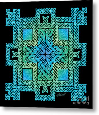 Metal Print featuring the mixed media Celtic Castle by Kristen Fox