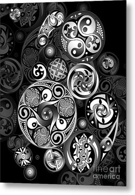 Celtic Clockwork Metal Print