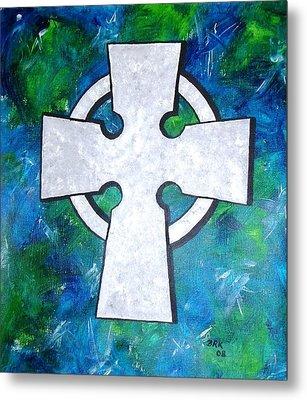 Celtic Cross Metal Print by Bo Klinge