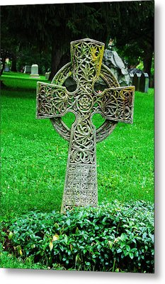 Celtic Cross  Metal Print by Brigid Nelson