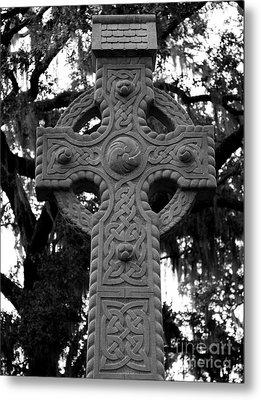 Celtic Cross In Emmet Park Metal Print by Carol Groenen