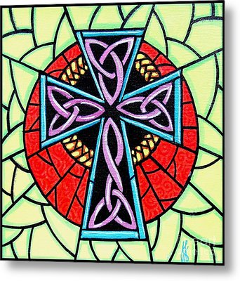 Metal Print featuring the painting Celtic Cross by Jim Harris