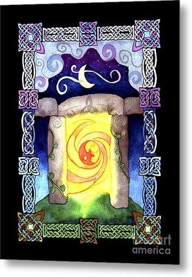 Metal Print featuring the painting Celtic Doorway by Kristen Fox