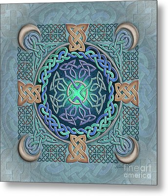 Metal Print featuring the mixed media Celtic Eye Of The World by Kristen Fox