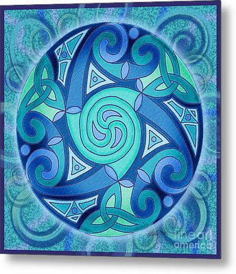 Celtic Planet Metal Print