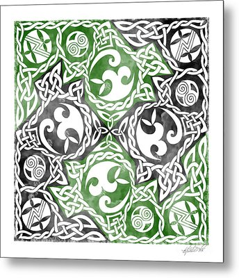 Metal Print featuring the photograph Celtic Puzzle Square by Kristen Fox