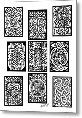 Metal Print featuring the drawing Celtic Tarot Spread by Kristen Fox