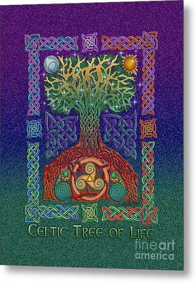 Metal Print featuring the mixed media Celtic Tree Of Life by Kristen Fox