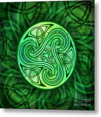 Celtic Triskele Metal Print