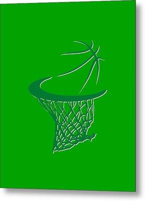 Celtics Basketball Hoop Metal Print