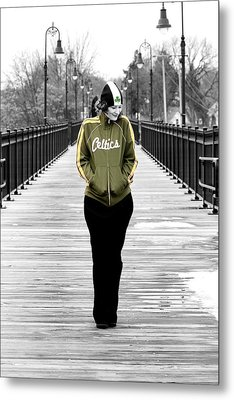 Celtics Girl Metal Print by Greg Fortier