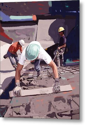 Cement And Rebar Metal Print by Brad Burns