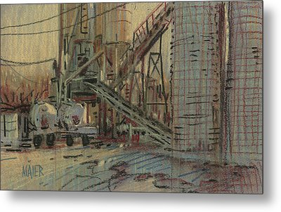 Cement Company Metal Print by Donald Maier