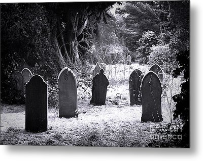 Cemetery And Snow Metal Print by Jane Rix