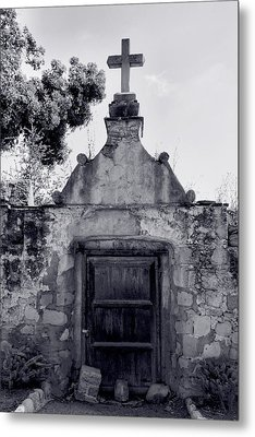 Cemetery At Mission Santa Barbara I Metal Print by Steven Ainsworth