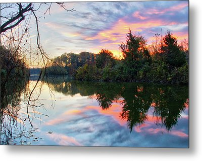 Metal Print featuring the photograph Centennial Lake At Sunrise by Mark Dodd