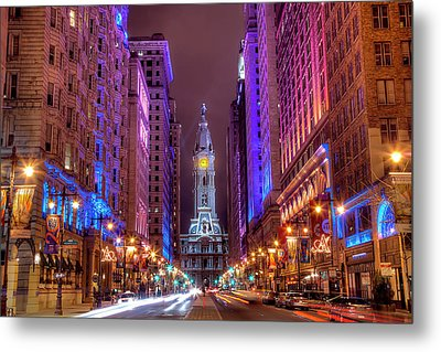 Center City Philadelphia Metal Print by Eric Bowers Photo