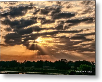 Central Florida Sunrise Metal Print by Christopher Holmes