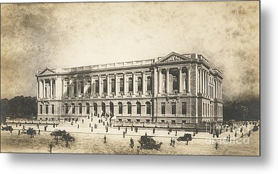 Central Library Of The Free Library Of Philadelphia Metal Print