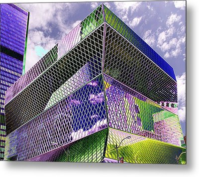 Central Library  Seattle Metal Print by Tim Allen