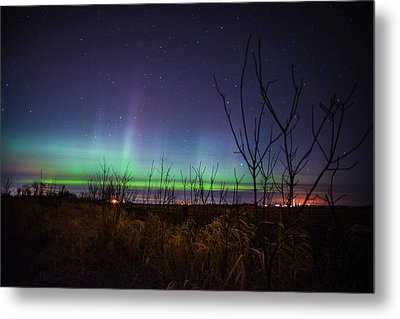 Central Minnesota Aurora Metal Print