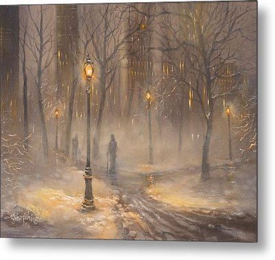 Central Park After Dark Metal Print
