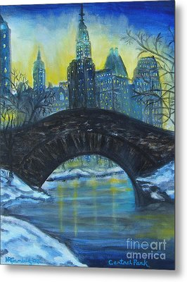 Central Park Metal Print by Nancy Rucker