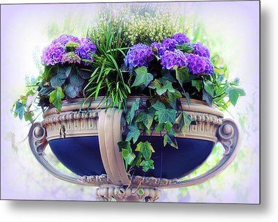 Metal Print featuring the photograph Central Park Planter by Jessica Jenney