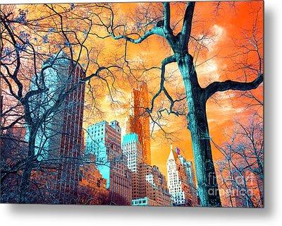 Central Park Pop Art Metal Print by John Rizzuto