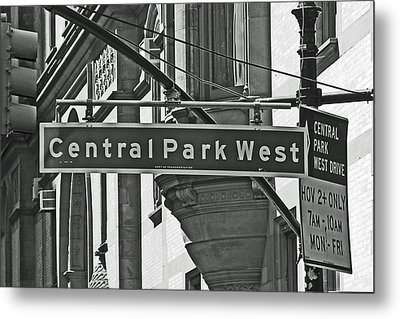 Central Park West Metal Print by Sharla Gentile