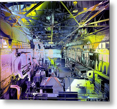 Metal Print featuring the photograph Grunge Central Power Station by Robert G Kernodle