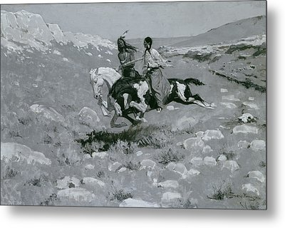 Ceremony Of The Fastest Horse Metal Print by Frederic Remington
