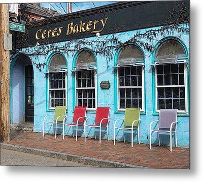 Ceres Bakery In Portsmouth Nh Metal Print by Nancy De Flon