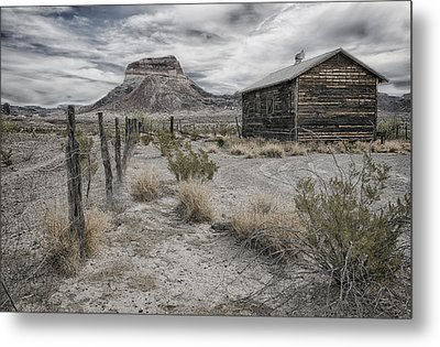 Metal Print featuring the tapestry - textile Cerro Castellan - Big Bend  by Kathy Adams Clark