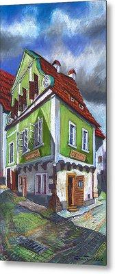 Cesky Krumlov Old Street 3 Metal Print by Yuriy  Shevchuk