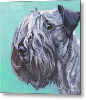 Metal Print featuring the painting Cesky Terrier by Lee Ann Shepard