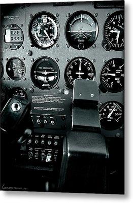 Cessna 172sp Cockpit Metal Print