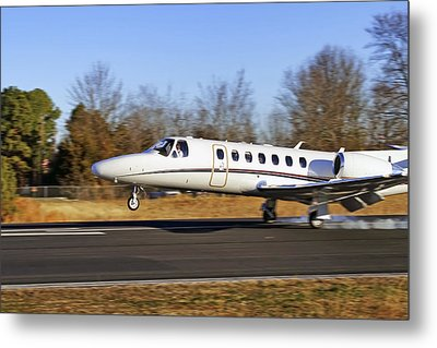 Cessna Citation Touchdown Metal Print by Jason Politte