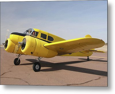 Cessna T-50 Bobcat N59188 Casa Grande Airport Arizona March 5 2011 Metal Print by Brian Lockett