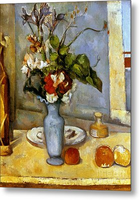Cezanne: Blue Vase, 1885-87 Metal Print by Granger