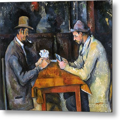 Cezanne: Card Player, C1892 Metal Print by Granger