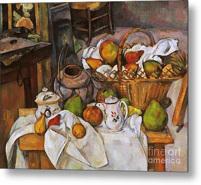 Cezanne: Table, 1888-90 Metal Print by Granger