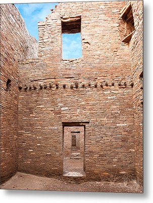 Chaco Canyon Doorways 4 Metal Print
