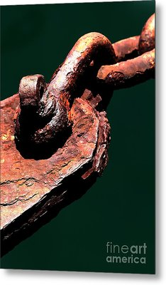 Metal Print featuring the photograph Chain Age II by Stephen Mitchell