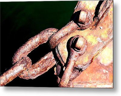 Metal Print featuring the photograph Chain Age by Stephen Mitchell