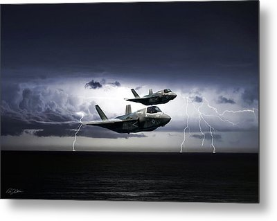 Metal Print featuring the digital art Chain Lightning by Peter Chilelli