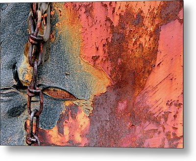 Chained Metal Print by Doug Hockman Photography