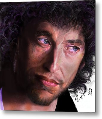 Chained To The Sky -  Bob Dylan  Metal Print by Reggie Duffie