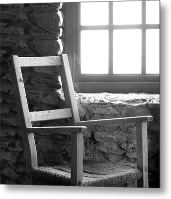 Chair By Window - Ireland Metal Print by Mike McGlothlen