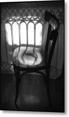 Chair Metal Print by Julia Bridget Hayes
